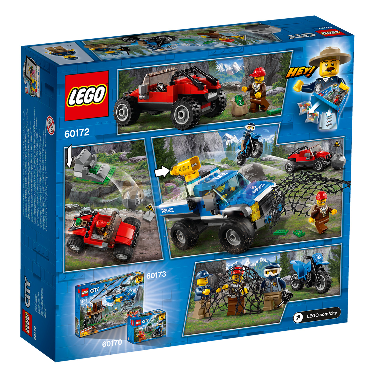 Конструктор lego city 60172 погоня по грунтовой дороге