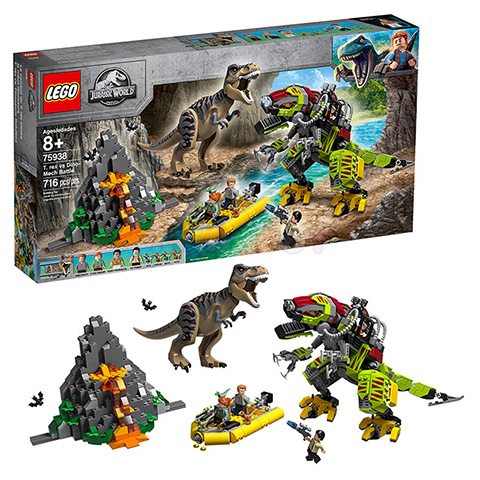 75938 LEGO Jurassic World | ЛЕГО Мир Юрского Периода - Бой тираннозавра и робота-динозавра | 5702016542707